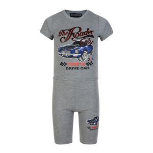 Boys Shorts T Shirt Set Racing Car 2PCS Tracksuit (A740) pictures & photos