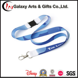 Custom Polyester Material Heat Transfer Prinitng Lanyard with Release Buckle pictures & photos