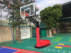 Red Color Basketball Hoop Supporting Height Adjustable Stand for Club pictures & photos