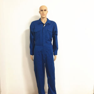 Fireproof Zipper on Chest Reflector Blue Coverall for Dubai pictures & photos