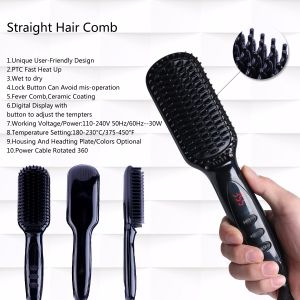 Anion Hair Straightener Brush pictures & photos