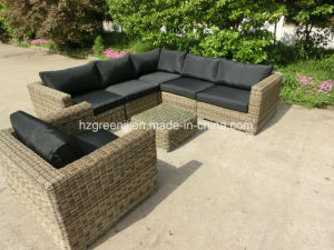 8 Pieces Round Rattan Sofa Set Outdoor Patio Furniture pictures & photos