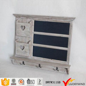 Chic Gray Antique Wooden Blackboard Wall Shelf pictures & photos