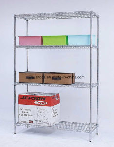 Standard Showroom and Supermarket Chrome Metal Wire Shelf China Manufacturer pictures & photos