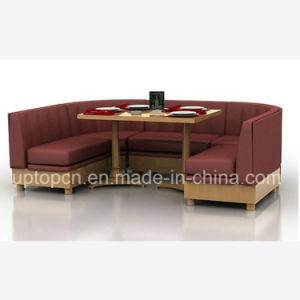 Upgrade Sofa Booth with Comfortable Cushion for Restaurant (SP-KS240) pictures & photos