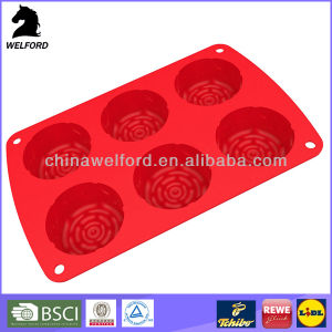 Deformation Resistant Freezers Silicone Cake Mould pictures & photos