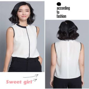 Hot Casual Sleeveless Chiffon Blouse Women Blouses pictures & photos