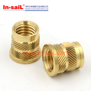 Brass Threaded Insert Nut of Machine Parts pictures & photos