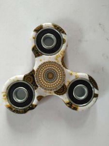Flower Pattern Finger Gyro Water Transfer Printed Plastic Fidget Spinner pictures & photos