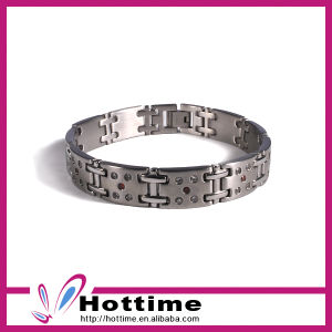 Fashion Jewelry Rhinestone Silver Stainless Steel Bracelet (CP-JS-BL-144) pictures & photos
