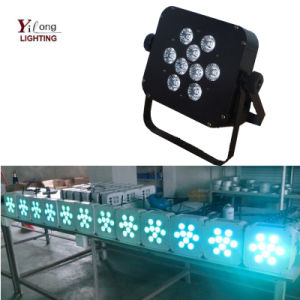 Wholesale 9PCS Rgabwuv 6in1 Disco Wedding Party Flat LED PAR