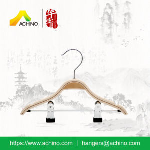 Wooden Laminated Clothes Hangers with Clips (WLH009) pictures & photos