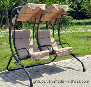 Couple Swing Chair, Garden Swing Chair with Sunshade pictures & photos