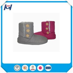 Cheap Warm Winter Knitted Slipper Boots for Women pictures & photos