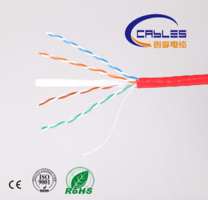 High Quality Best Price 4pr 23AWG CAT6 UTP Indoor Network Cable pictures & photos