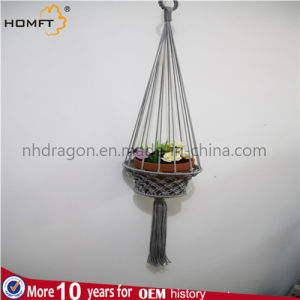 Knitting Rope Made Plant Basket pictures & photos