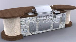 4-Burner Gas BBQ Grill Island