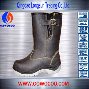 Hot-Sale Embossed Leather Safety Shoes/Work Boots