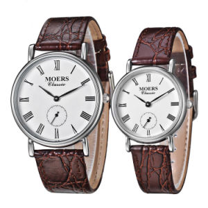 2017 Top 316L Stainless Steel Genuine Leather Timepiece Men Watch pictures & photos