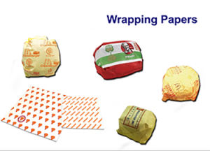 40+15GSM PE Coated Paper for Burger Wrapping, Sandwich/Nugget Wrapping Paper pictures & photos