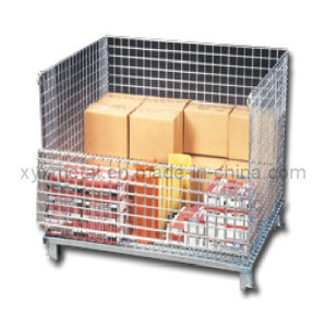 Manufacturer of Warehouse Storage Wire Mesh Container pictures & photos