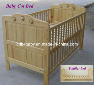 2 in 1 Europe Wooden Baby Cot Bed