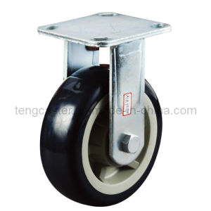 Industrial Heavy Duty Rigid Caster with PU Wheel
