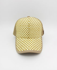 Wholesale Promotional Straw Mesh Fashion Style Curved Brim Sports Cap pictures & photos