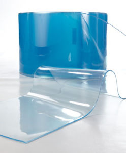China Blue Flexible Transparent PVC Film for Package and Printing