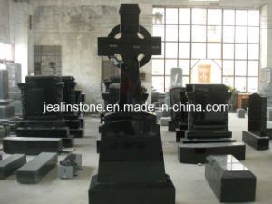 Black Celtic Cross Tombstone (JS-EM-4003)