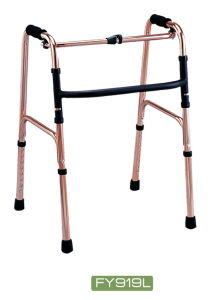Height Adjustment Foldable Bronze Aluminum Walker pictures & photos