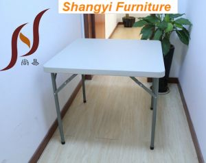 34′′ Blow Mould Plastic Outdoor Folding Table (SY-87F) pictures & photos