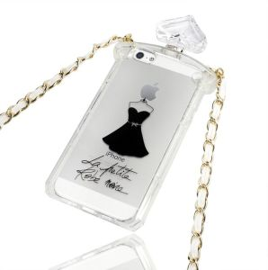 2014 New Design Perfume Bottle Phone Case with Chain for iPhone 5g