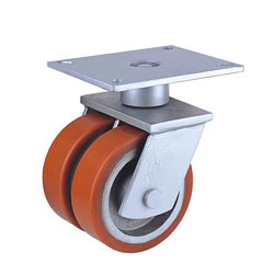 China Wholesale Swivel Twin Casters with PU Wheel pictures & photos