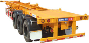 Cimc Skeleton Semitrailer Truck Chassis pictures & photos