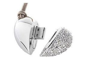 Heart Shape Jewelry USB Flash Drive, USB2.0