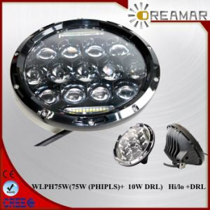 75W (PHIPLS) + 10W DRL LED for Jeep Wrangler Headlight pictures & photos