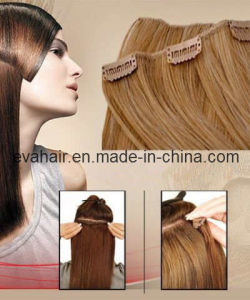 100% Indian Remy Clip in Human Hair Extension pictures & photos