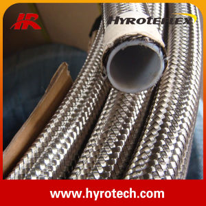 304 Stainless Steel Wire Braided Convoluted Teflon Hose pictures & photos