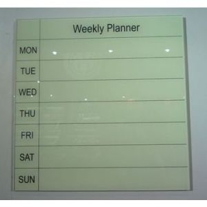 Glass Week Planner Writing Borad pictures & photos