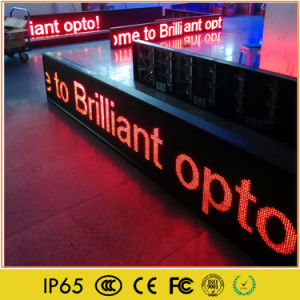 Monochrome Programmable LED Moving Text Sign pictures & photos