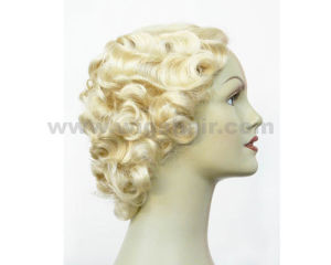 High Quality Short Curly Synthetic Wigs pictures & photos