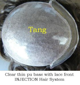 Clear Thin Poly Base with Lace Front Wigs (Injection) pictures & photos