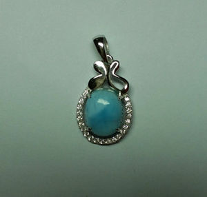 Natural Larimar Sterling Silver Pendant (P0337) pictures & photos