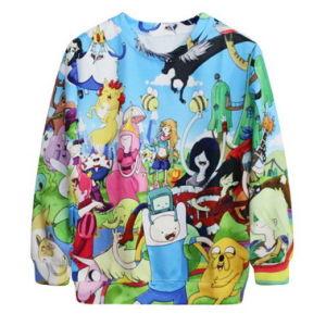 Fashion Pullover Adventure Time Color Print Casual Blusas College Hoodies Cheap Sweatshirts Female Roupas Fantasias Femininas