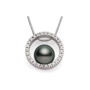 Fashion Sterling Silver 925 Statement Choker Necklace with Pearl