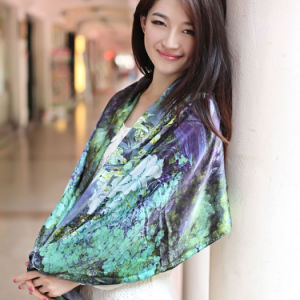 100%Silk Digital Printed Shawl (12-BR110303-2.1) pictures & photos
