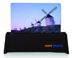 Wall Fabric Display Stand for Advertising pictures & photos