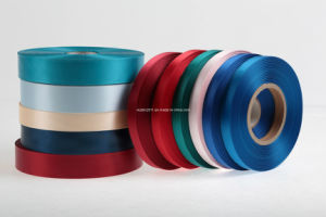Colorful Slit Edge Polyester Satin Label Ribbon