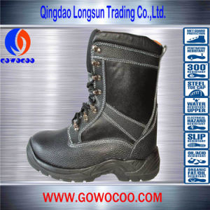 Double Density PU Stitching Leather Safety Shoes/Work Boots